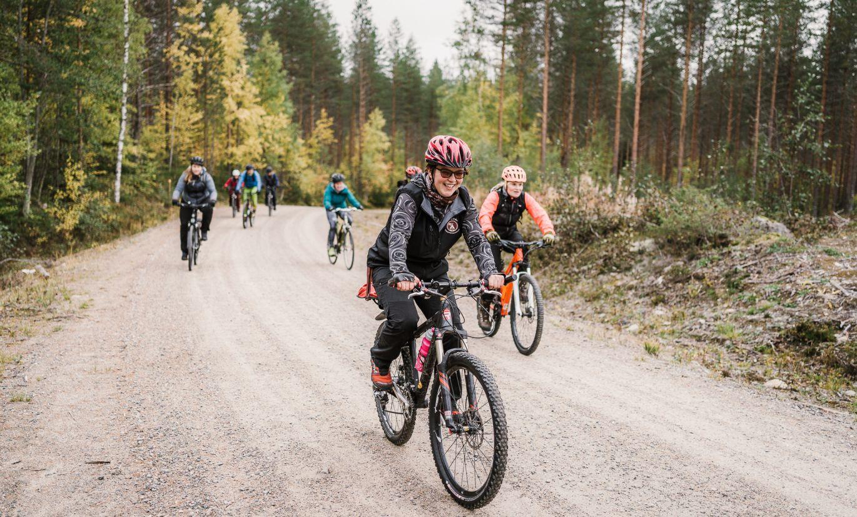 Maastopyöräilyä Ilomantsissa